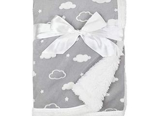 American Baby Company Heavenly Soft Chenille Sherpa Receiving Blanket  3D Gray  30  x 35  for Boys and Girls