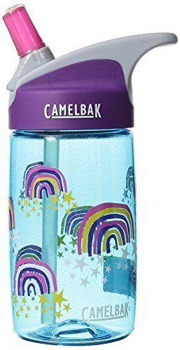 CamelBak eddy Kids BPA Free Water Bottle 12 oz  Glitter Rainbows