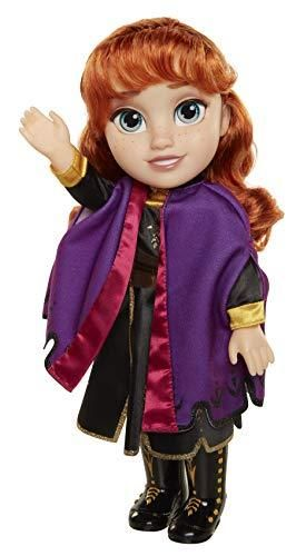 Disney Frozen 2 Anna Travel Doll   Features Violet Travel Cape Boots   Hairstyle   Ages 3  14 In