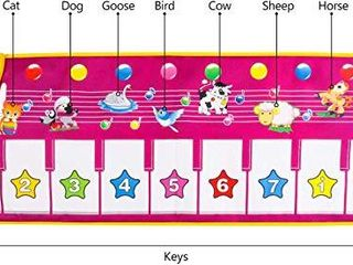 Kids Piano Mat 39  x 14  Foot Piano Mat Keyboard Play Mat with 8 Animal Sounds Electronic Music Dance Mat Early Education Toys for Toddlers Girls Boys
