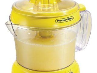 Proctor Silex Alex s lemonade Stand Citrus Juicer Machine and Squeezer  66331  34 oz  Yellow