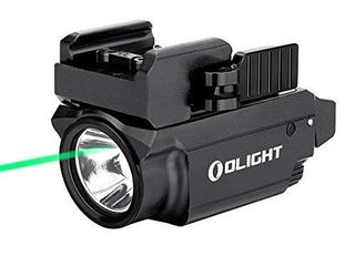 OlIGHT Baldr Mini 600 lumens Magnetic USB Rechargeable Weaponlight with Green Beam and White lED Combo  Compact Rail Mount Tactical Flashlight with Adjustable Rail  Black