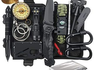 Gifts for Men Dad  Survival Gear and Equipment 14 in 1  Fishing Hunting Christmas Birthday Valentines Day Gift Ideas for Him Husband Boyfriend Teenage Boy  Cool Gadget  Survival Kit Emergency Camping