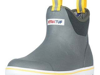 Xtratuf Performance Series 6  Men s Full Rubber Ankle Deck Boots  22735 Gray Yellow Size 7