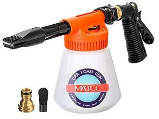 MATCC Car Foam Gun Foam Cannon Blaster 6 Adjustment Ratio Dial Foam Wash Gun Connects to Any Garden Hose Foam Sprayer for Car Home Cleaning with 0 23 Gallon Bottle