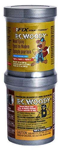 PC Products   163337 PC Woody Wood Repair Epoxy Paste  Two Part 12 oz in Two Cans  Tan 16333