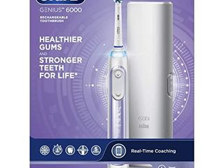 Oral B Genius 6000 Electric Toothbrush  Orchid Purple