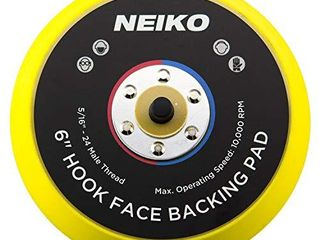Neiko 30263A Sanding Pads 6 Inch Hook and loop Face for Random Orbital Sanders  1 Piece