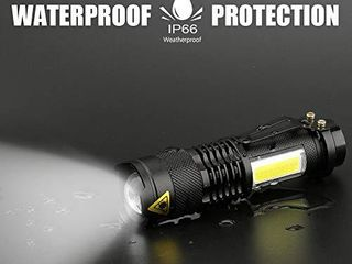 Ustopfire Mini Flashlights 5 Pack Ultra Bright 300 lumens Portable Small lED Flashlight lantern Adjustable Focus COB Handheld Flash light for Kids Child Camping Emergency Travel Hiking Torch light