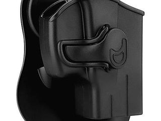 Polymer OWB Holster for Taurus G2C G3C G2S G3 TX22 Millennium G2 PT111 PT138 PT140 PT145   Index Finger Released   Adjustable Cant   Autolock   Outside Waistband   Right Handed