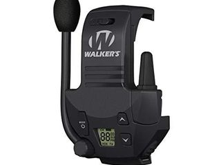 Walker s Razor Walkie Talkie Handsfree Communication up to 3 Miles  Black