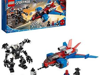 lEGO Marvel Spider Man Spider Jet vs Venom Mech 76150 Superhero Gift for Kids with Minifigures  Mech and Plane  New 2020  371 Pieces