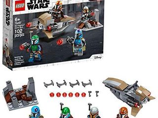lEGO Star Wars Mandalorian Battle Pack 75267 Mandalorian Shock Troopers and Speeder Bike Building Kit  Great Gift Idea for Any Fan of Star Wars  The Mandalorian TV Series  New 2020  102 Pieces