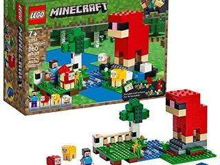 lEGO Minecraft The Wool Farm 21153 Building Kit  260 Pieces