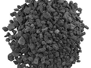 American Fireglass lAVA M 10 American Fire Glass Medium Sized Black lava Rock Porous  All Natural  1 2 Inch to 1 Inch Thick x 10 Pounds