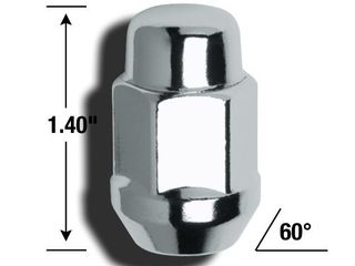 Gorilla Automotive 91733 Acorn Bulge Chrome lug Nut and lock System  12mm x 1 50 Thread Size