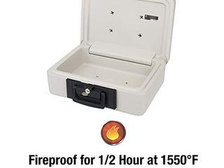 SentrySafe 1160 Fireproof lock Box  0 25 Cubic Feet  Dove Gray