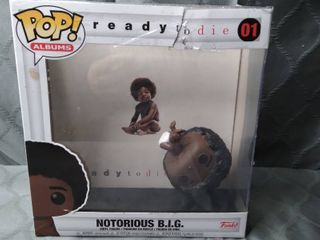 POP  AlBUMS  READY TO DIE 01  NOTORIOUS B I G  VINYl FIGURE