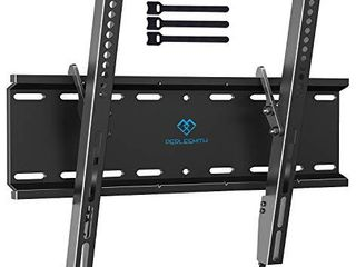 Tilting TV Wall Mount Bracket low Profile for Most 23 55 Inch lED  lCD  OlED  Plasma Flat Screen TVs with VESA 400x400mm Weight up to 115lbs by PERlESMITH  Black