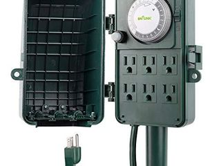 BN lINK 24 Hour Mechanical Outdoor Multi Socket Timer  6 Outlet Garden Power Stake