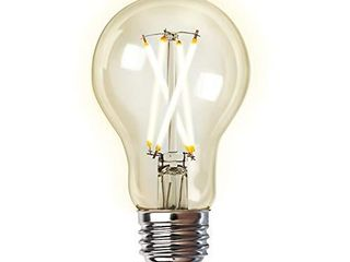 Feit Electric A1960Cl 927CA FIl AG 60 Watt Equivalent WiFi Dimmable  No Hub Required  Alexa or Google Assistant  Filament A19 lED Smart light Bulb  4  H x 2 25  D  2700K Soft White