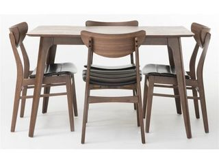 Anise 5 piece Wood Rectangular Dining Set by Christopher Knight Home  2 CHAIRS ONlY Retail 481 22