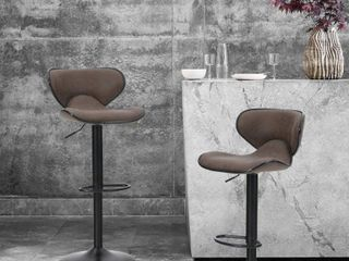 AlPHA HOME Counter Height Adjustable Swivel Bar Chair Set of 2  Retail 136 99