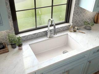 Karran Undermount Quartz Single Bowl Kitchen Sink  Retail 293 99