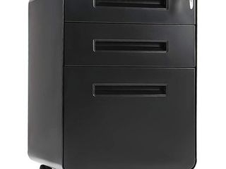 Superday 3  drawer Rolling Metal locking File Cabinet  Retail 179 98