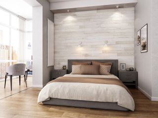 NaturaPlank Peel and Stick Real Wood Wall Panels with 3M Adheisive Tape   Antique White   Retail 162 49