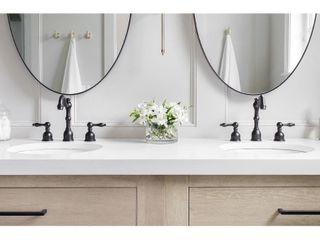 Oil Rubbed Bronze Handmade Deck Mount Widespread Bathroom Faucet   Retail 210 00
