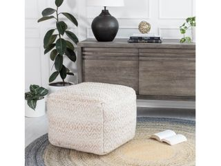The Curated Nomad Ranelagh Beige Rhombus 22  Square Pouf   Retail   105 49