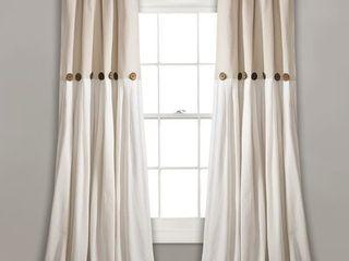 lush Decor linen Button Cotton Blend  40 x95    one panel   Retail   45 95