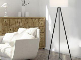 Carson Carrington Vinderup Black 61 25 inch 3 way Tripod Floor lamp with linen Shade   Retail  78 59