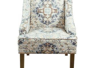 Porch  amp  Den Holman Fabric Upholstered Swoop Armchair   Retail   181 99