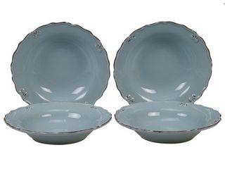 Certified International Vintage 9 inch Soup Cereal Bowls  Set of 4  Retail  43 00