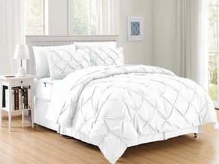 Elegant Comfort 8 Piece Bed in a Bag Pintuck Comforter Set   Retail 76 30