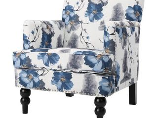 Boaz Floral Fabric Club Chair by Christopher Knight Home   Retail   277 00