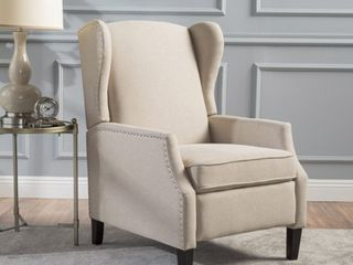Wescott Wingback Fabric Recliner Club Chair by Christopher Knight Home  Retail   324 99
