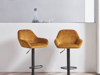 Corvus Wendy Contemporary 34 42 inches high Adjustable Bar Stool  Set of 2  Retail 221 49