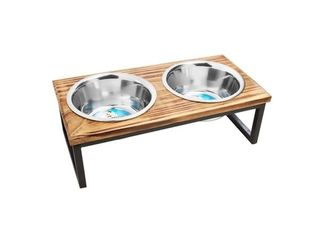 Contemporary Wooden Pet Diner Retail   37 49