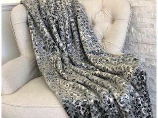 Plautus Snow leopard Faux Fur Gray luxury   Retail  304 49