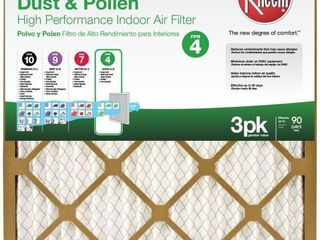 14 x 14 Basic Household Pleated FPR 4 Air Filter  3 Pack  Case of 4