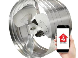Master Flow 1450 CFM SIlver Electric Powered Gable Mount Electric Attic Fan