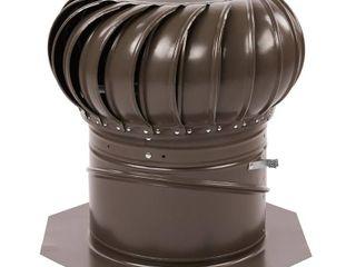 GAF Master Flow GIC12WW Internal Braced Rotary Turbine Ventilator  12 in  Steel  Galvanized