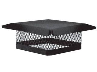 Master Flow 13 in  x 13 in  Galvanized Steel Fixed Chimney Cap in Black NEW READ