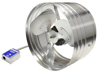 Master Flow EGV6 Power Attic Vent  1600 cfm  768 sq in Net Free Ventilating Area  Galvanized Steel  Silver