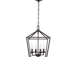Home Decorators Collection Weyburn 4  light Bronze Caged Chandelier