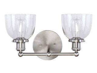 Home Decorators Collection Evelyn 2 light Brushed Nickel Vanity light