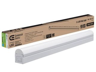 Commercial Electric Plug In or Direct Wire Power Connection 2 ft  White 4000K Integrated lED Strip light  with power cord and linking cord